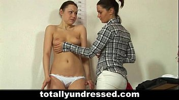 Humiliating totally nude job interview for blonde