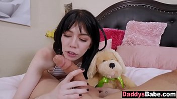 Stepdaughter fucked rough by her own dad
