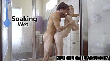 Nibilefilms - Elsa Jean & Lily Rader Share Cock In Shower
