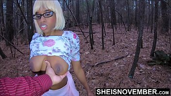Risky Hangers Foreplay With My Step Daughter After Church Outside In The Woods, Horny Step Dad Sucking Msnovember Young Busty Saggy Natural Ebony Boobs & Nipples In Public Fauxcest On Sheisnovember