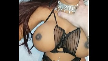 Shooting a hot creamy load of cum on my dolls pussy and panties