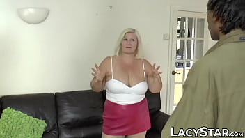 Ass fucked GILF Lacey Starr creampied by two big black cocks