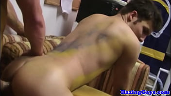 Gaystraight twink cumdrenched at hazing