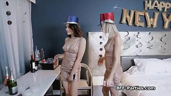 New years cumdown foursome blowjob party