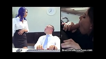 4 Office Babes For 1 Big Cock!