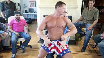 Gay strip male - Gaywire - muscle hunk male stripper slings his dick around at a birthday party