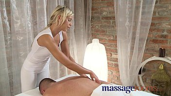 Massage Rooms Stunning teen oils large cock before orgasm