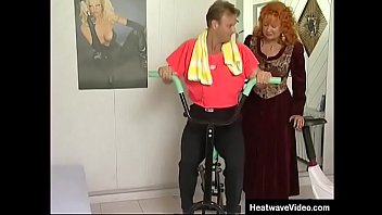 Housewife helps her husband's friend burn off that excess energy