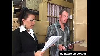 Sexy MILF boss loves sucking cock and fucking with y. employee