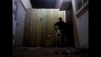 Stripping in the alley