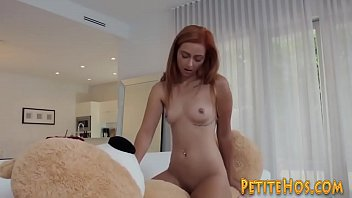 Kinky Little Teen Rides Cock After Humping Teddy Bear