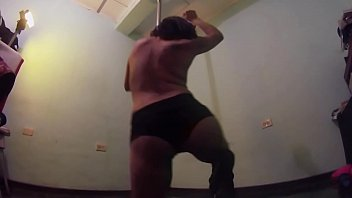 Dancing on the stripper pole (3)