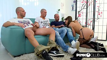 Malena, Marco Nero, Mike Angelo, Luca Ferrero all the cocks for her!