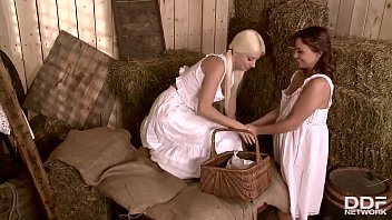 Horny Country Maidens Alysa & Jessie Volt Get Their Tight Assholes Gaped
