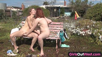 Girls Out West - Hairy lesbians mutual fingering