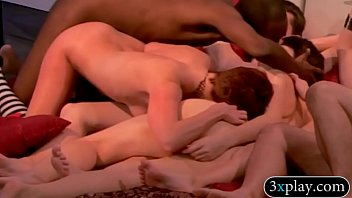 Swingers hot groupsex in Playboy mansion