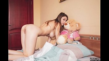Streaming Video Mila Azul best nude erotic girl model with teddy bear Gosha for Plushies TV - XLXX.video