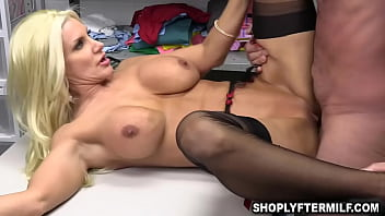 Security officer Rusty Nails fully search this shoplifting babe Brittany Andrews