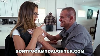 DON'T FUCK MY DAUGHTER - Slutty Teen Sneaking Around With Daddy's Friend thumbnail