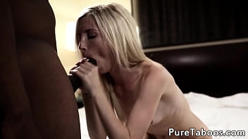 Petite stepdaughter drilled by black dong