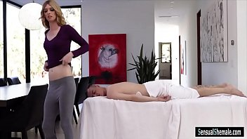 Tight blond TS gets her asshole ripped