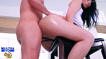 Violet Myers sucks and Fucks Laz Fyre's veiny cock until it erupts with loads of sweet cum