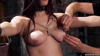 Busty trainee twat toyed and fingered
