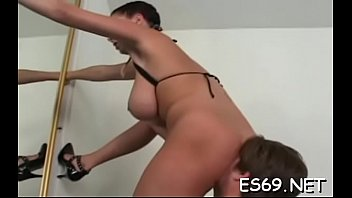 Sexy girlie enjoys sex action