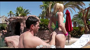 Tiny4K Bikini babe have hot sex by the pool  - 69VClub.Com