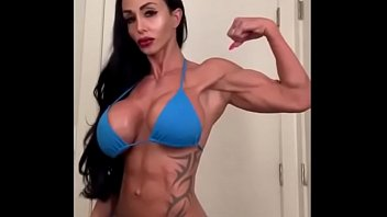 Busty fit milf clothed and unclothed thumbnail