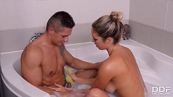 Bathtub Blowjob with Big Titty Sex Goddess Eva Parcker