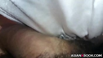 Close up asian blowjob