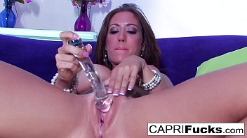 Capri shows off her tight body and tight pussy