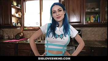 Big Tits Teen Stepsister Jewelz Blu Fucked In Family Kitchen By Stepbrother POV 8 min