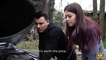 HUNT4K. Guy doesnt have enough money but his GF sells her pussy