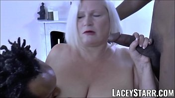 LACEYSTARR - BBC double team works on insatiable granny Thumb