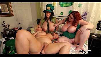 Sexy st patricks day green outfits Angelina castro st. patricks day 3way fuck fest