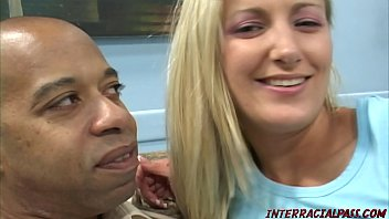 Blonde gets her ass stretched by huge black cock thumbnail