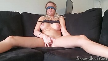 Blindfolded Samantha Flair cums hard twice