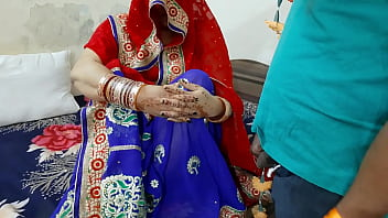 The father-in-law pelted the pussy by luring the bride Avni 12 min