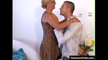 Horny granny seduced by young grandson