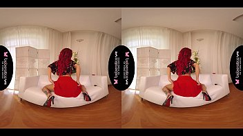 Streaming Video Solo fuck doll, Red Fox is using a pink vibrator, in VR - XLXX.video