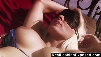 RealLesbianExposed - Blindfolded Holly Halston Doesn't Know She's Gone Lesbo