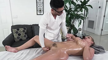 Busty Big Ass Milf Rachael Cavalli Gets A Much Needed Sensual And Erotic Massage From Shy Nerd Tyler Steel