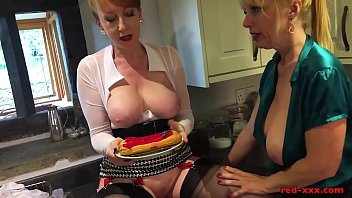 Pastries and pussy licking in the kitchen with Red XXX 8 min