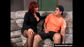 Imagine going over a friend's house and seeing his hot momma on the couch, would you be able to control yourself?