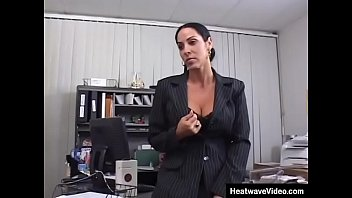 Mature woman with big melons fucking at the office