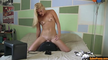 My Sexy Blonde Step Sister Makes Herself Cum While Riding The Sybian