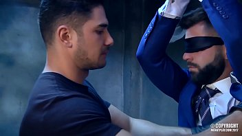 Russian stud Dato Foland fuck Hector De Silva tied and blindfolded