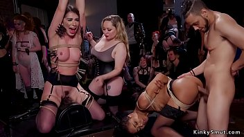 Interracial anal group bdsm sex party